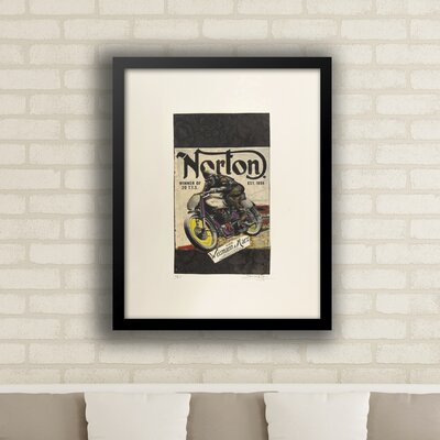 'Norton Motorcycles' Framed Vintage Advertisement 53C46CF609DC471C878BE7333C09772D