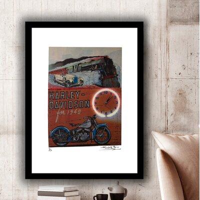'Harley Davidson Motorcycles' Framed Vintage Advertisement 0DDDC6B4EB574E7B9905645855887126