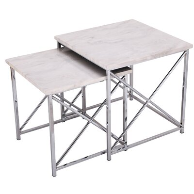 Arvidson 2 Piece Nesting Tables Table Top Color: Gray