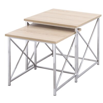 Arvidson 2 Piece Nesting Tables Table Top Color: Natural