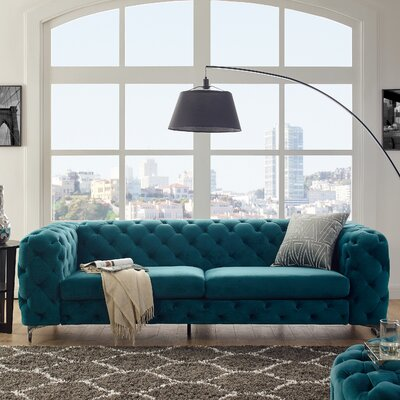 Kogut Chesterfield Sofa Upholstery: Teal