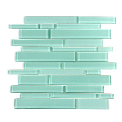 Premium Random Sized Glass Mosaic Tile in Teal