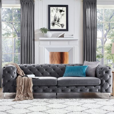 Kogut Chesterfield Sofa Upholstery: Gray