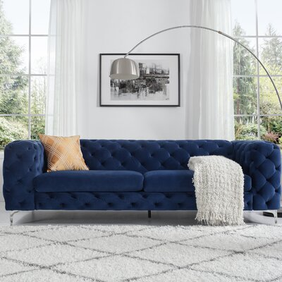 Kogut Chesterfield Sofa Upholstery: Navy Blue