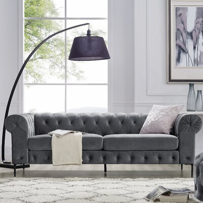 Kohlmeier Chesterfield Sofa Upholstery: Gray