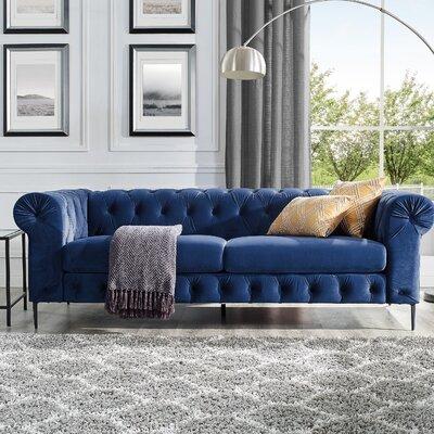 Kohlmeier Chesterfield Sofa Upholstery: Navy Blue