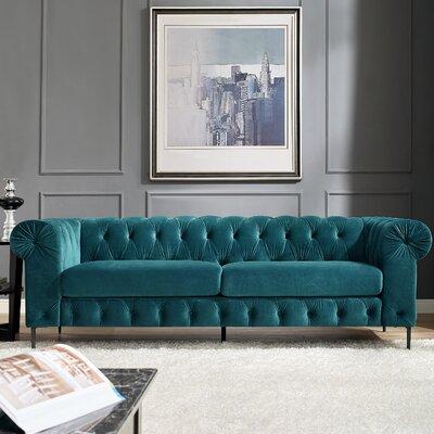 Kohlmeier Chesterfield Sofa Upholstery: Teal