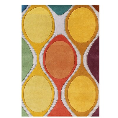 Gilland Modern Hand-Tufted Wool Yellow Area Rug Rug Size: Rectangle 5 x 8
