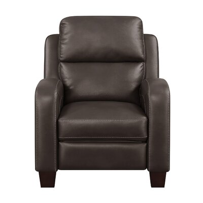 Hedges Manual Recliner Upholstery: Brown