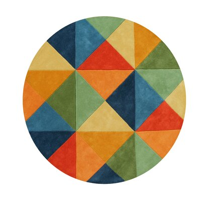 Kinley Blend Hand-Tufted Wool Green/Blue/Orange Area Rug