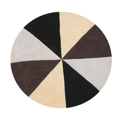 Kinnear Geometric Hand-Tufted Wool Beige/Black/Brown Area Rug