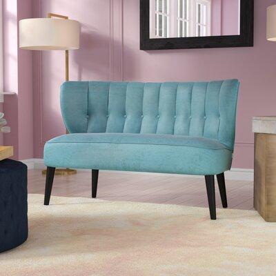 Kalea Tufted Settee Upholstery: Arctic Blue