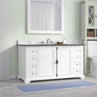 Belhaven 60 Single Rectangular Sink Cottage White Bathroom Vanity Set Base Finish: Cottage White