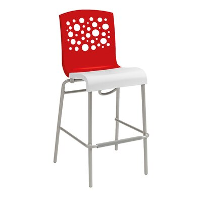 Leigh Woods Stacking Bar Stool Color: Red