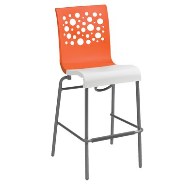 Leigh Woods Stacking Bar Stool Color: Orange