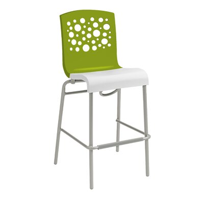 Leigh Woods Stacking Bar Stool Color: Green