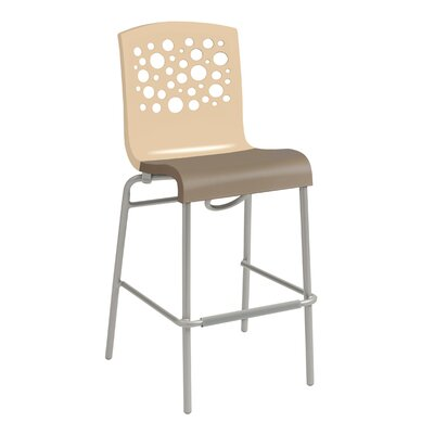 Leigh Woods Stacking Bar Stool Color: Beige