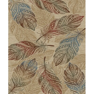 Shoshana Feather Beige/Brown Area Rug Rug Size: Rectangle 53 x 73