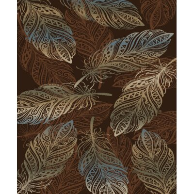 Synder Brown Area Rug Rug Size: Rectangle 5 x 8
