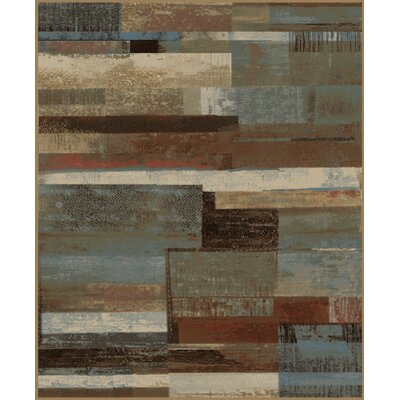 Chartier Plank Brown/Gray Area Rug Rug Size: Rectangle 53 x 73