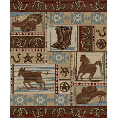 Synder Tan/Beige Area Rug Rug Size: Rectangle 710 x 910