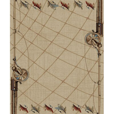 Synder Antique Tan/Beige Area Rug Rug Size: Rectangle 53 x 73