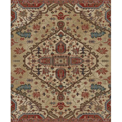 Pesina Beige/Red Area Rug Rug Size: Rectangle 23 x 33