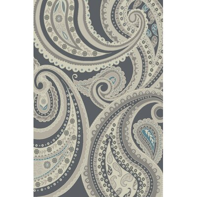 Damron Paisley Gray Area Rug  Rug Size: Rectangle 8 x 92