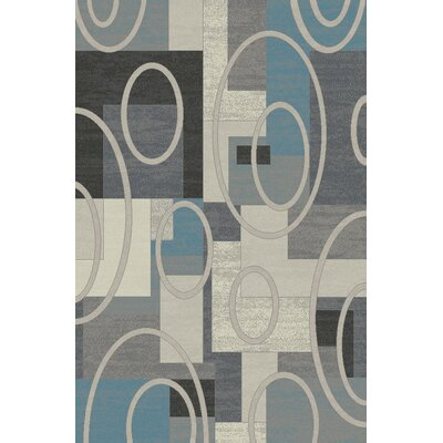 Charney Ivory/Gray Area Rug Rug Size: Rectangle 710 x 910