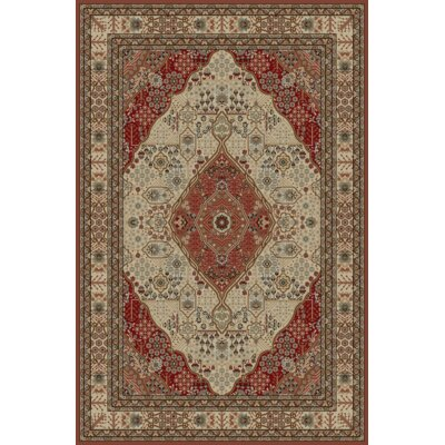 Cmille Red/Cream Area Rug Rug Size: Rectangle 8 x 92