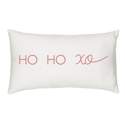 Bourn HO HO XO Cotton Lumbar Pillow