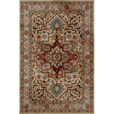 Heideman Beige/Red Area Rug Rug Size: Rectangle 710 x 910