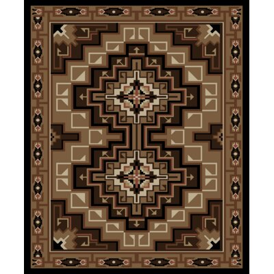 Perrault Beige/Brown Area Rug Rug Size: Rectangle 53 x 73