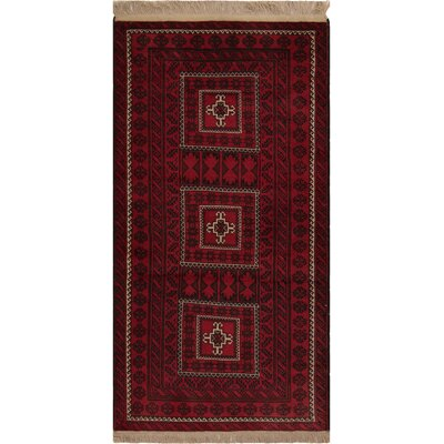 One-of-a-Kind Varney Hand-Knotted Wool Red/Black Area Rug