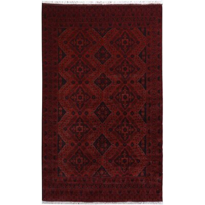 One-of-a-Kind Maday Hand-Knotted Wool Red Area Rug