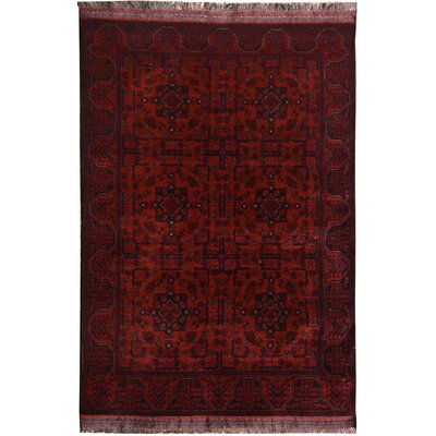 One-of-a-Kind Maddox Hand-Knotted Wool Red Area Rug