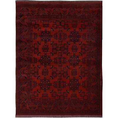 One-of-a-Kind Maddux Hand-Knotted Wool Red Area Rug