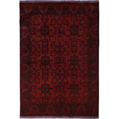 One-of-a-Kind Maderia Hand-Knotted Wool Red Area Rug