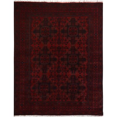 One-of-a-Kind Madison Avenue Hand-Knotted Wool Red Area Rug