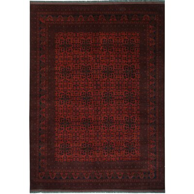 One-of-a-Kind Madsen Hand-Knotted Wool Red Area Rug