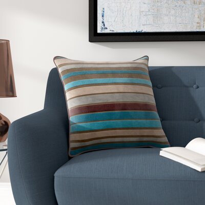 Destry Pillow Cover Size: 18 H x 18 W x 0.25 D, Color: BrownBlue