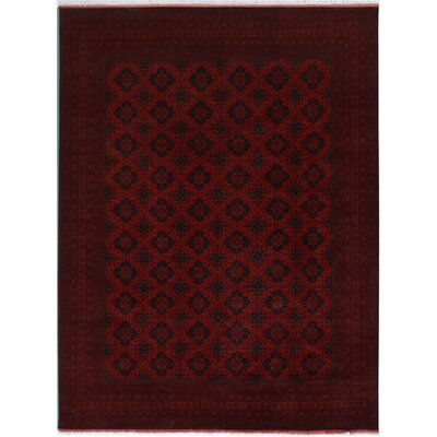 One-of-a-Kind Madiun Wool Red Area Rug