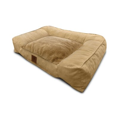 Memory Foam Dog Sofa Color: Tan