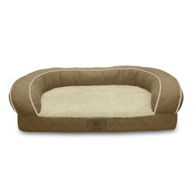 Quilted Orthopedic Dog Sofa Color: Tan