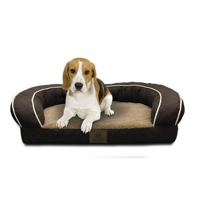 Quilted Orthopedic Dog Sofa Color: Brown