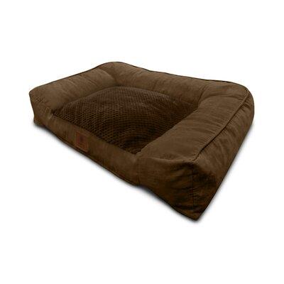 Memory Foam Dog Sofa Color: Brown