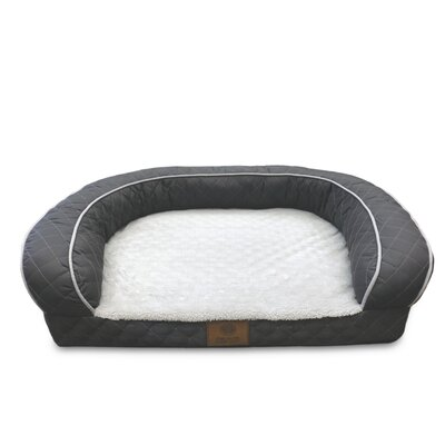 Quilted Orthopedic Dog Sofa Color: Gray