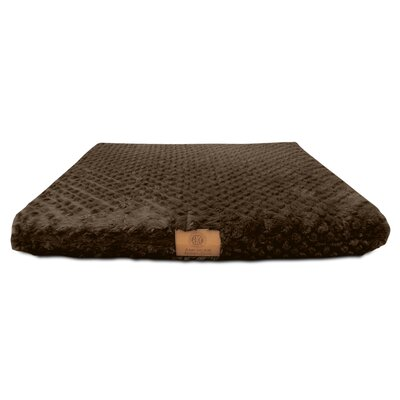 "Orthopedic Dog Pad Size: Small (19"" W X 24"" D X 3"" H), Color: Brown"