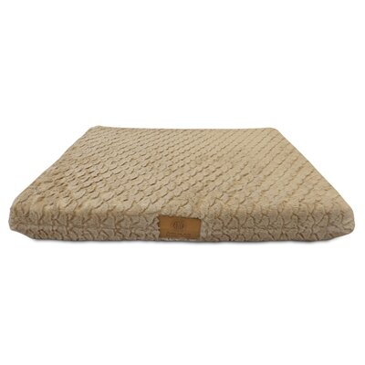"Orthopedic Dog Pad Size: Large (23"" W X 36"" D X 3"" H), Color: Tan"