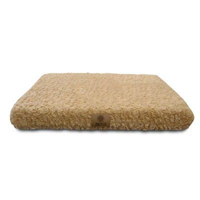 "Orthopedic Dog Pad Size: Small (19"" W X 24"" D X 3"" H), Color: Beige"
